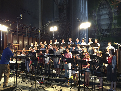 Howells recording in Coventry Cathedral
