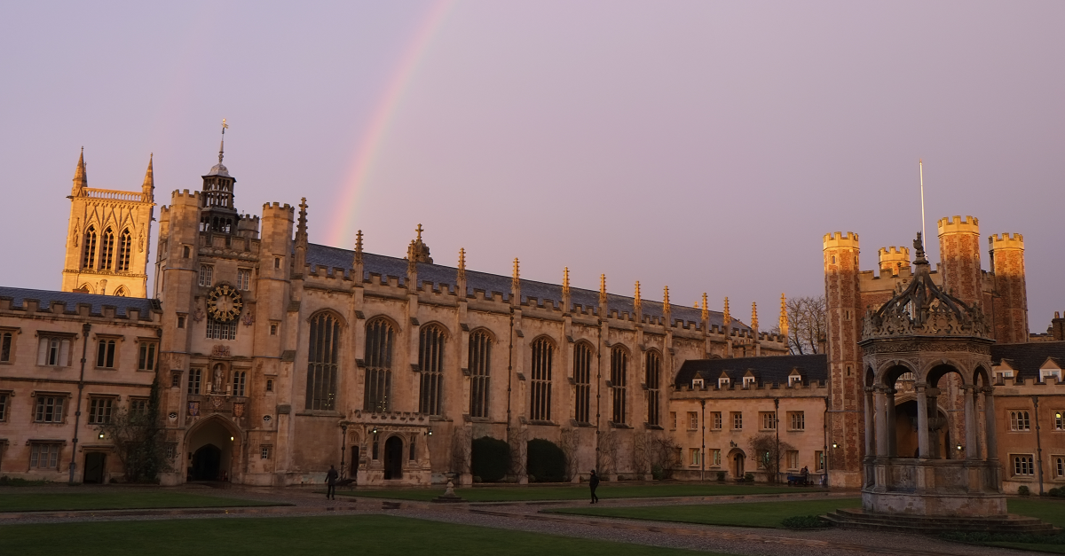 A Rainbow Arching over The Chapel of Trinity College, Cambridge