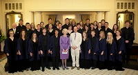 Trinity Choir with the Governer General in Canberra 2010