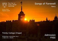 Parry: Songs of Farewell 2013
