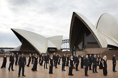 At the Sydney Opera House in Australia